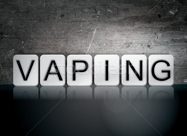 Vaping Tiled Letters Concept and Theme Stock photo © enterlinedesign