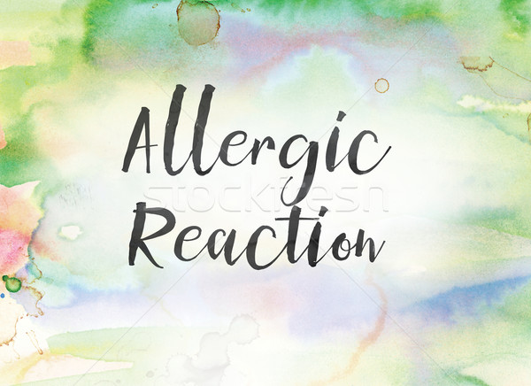 Allergic Reaction Concept Watercolor and Ink Painting Stock photo © enterlinedesign