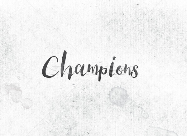 Champions Concept Painted Ink Word and Theme Stock photo © enterlinedesign
