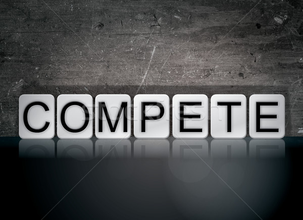 Compete Concept Tiled Word Stock photo © enterlinedesign