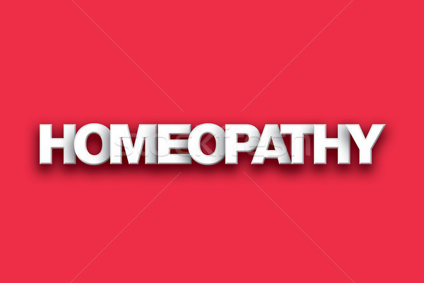 Homeopathy Theme Word Art on Colorful Background Stock photo © enterlinedesign