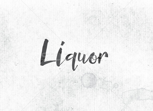 Liquor Concept Painted Ink Word and Theme Stock photo © enterlinedesign
