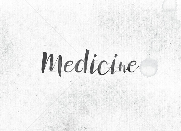 Medicine Concept Painted Ink Word and Theme Stock photo © enterlinedesign