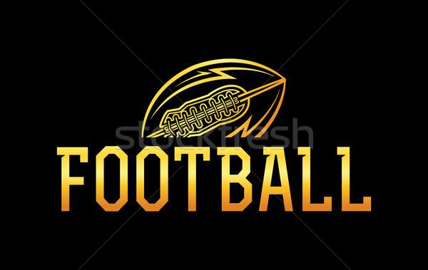 American Football Gold Ball Illustration Stock photo © enterlinedesign