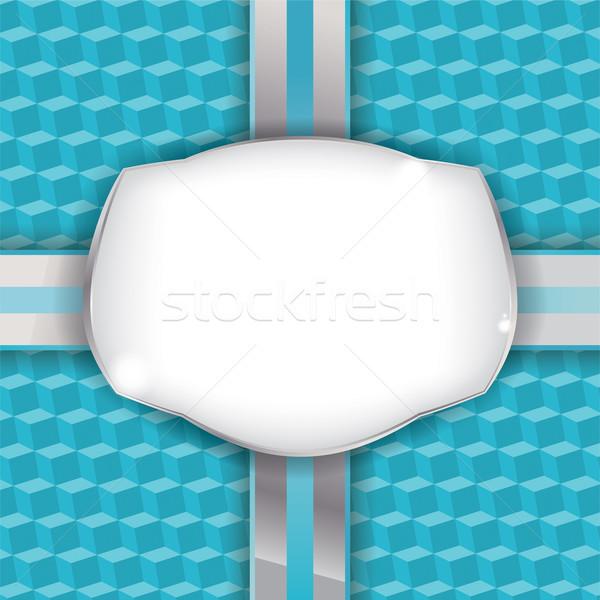 Ajándék csomagolópapír címke vektor eps 10 Stock fotó © enterlinedesign