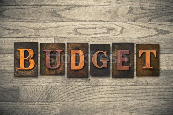 Budget Wooden Letterpress Theme Stock photo © enterlinedesign