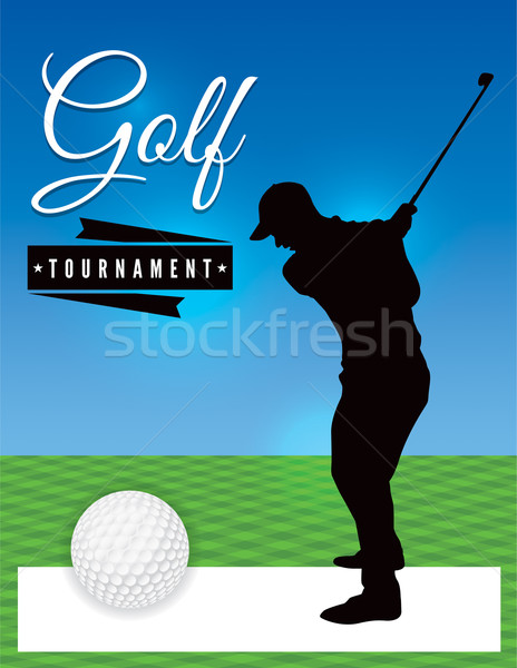 Golf Tournament Flyer Template Illustration Vector Illustration