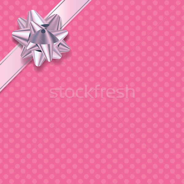 Pink Polka Dot Present Background Stock photo © enterlinedesign