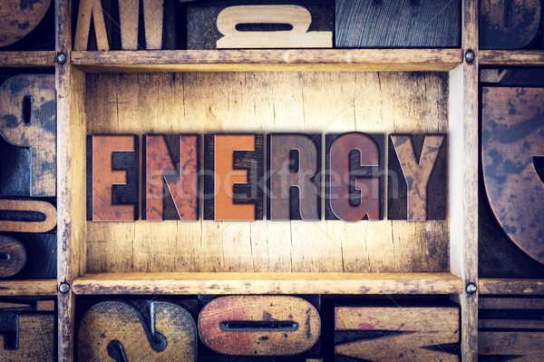 Energy Concept Letterpress Type Stock photo © enterlinedesign