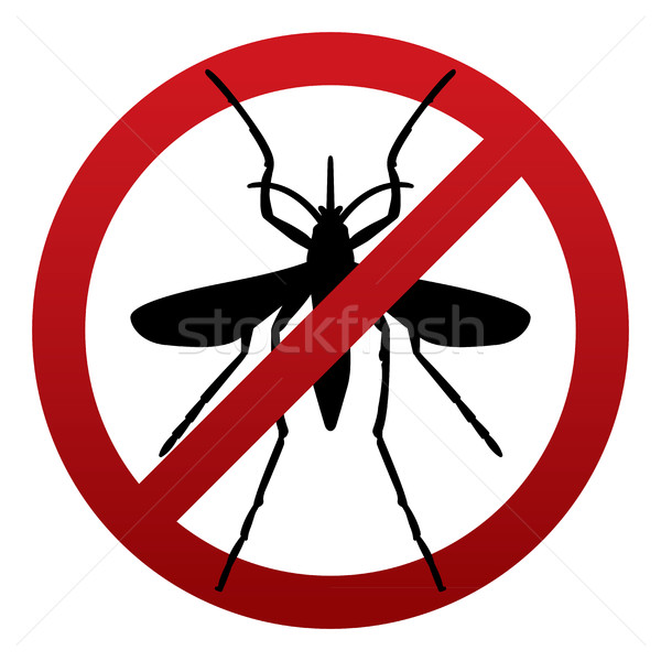 Anti Mosquito Sign Illustration Stock photo © enterlinedesign