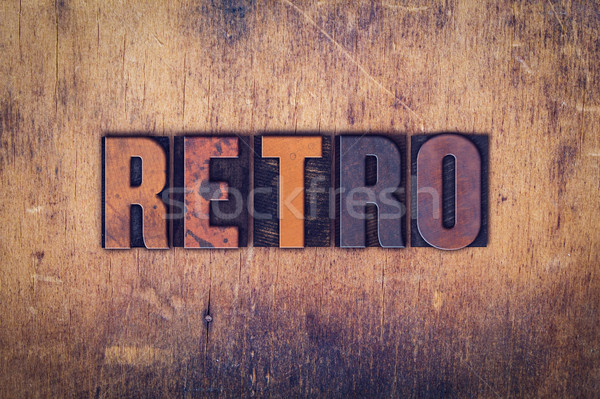 Retro Concept Wooden Letterpress Type Stock photo © enterlinedesign