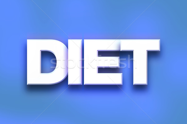 Diéta színes szó művészet írott fehér Stock fotó © enterlinedesign