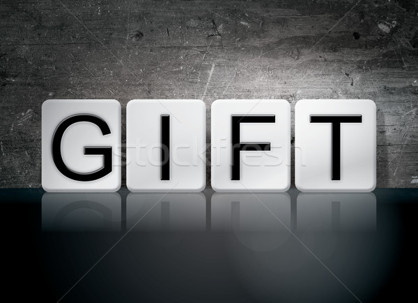 Gift Tiled Letters Concept and Theme Stock photo © enterlinedesign