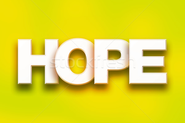 Hoop kleurrijk woord kunst geschreven witte Stockfoto © enterlinedesign