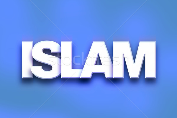 Islam Concept Colorful Word Art Stock photo © enterlinedesign