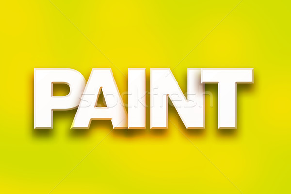 Paint Concept Colorful Word Art Stock photo © enterlinedesign