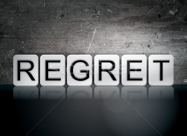 Regret Tiled Letters Concept and Theme Stock photo © enterlinedesign