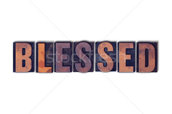Geïsoleerd woord geschreven vintage houten Stockfoto © enterlinedesign