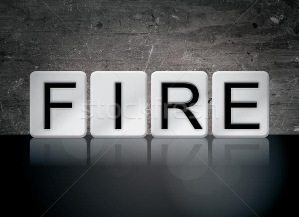 Stock photo: Fire Concept Tiled Word
