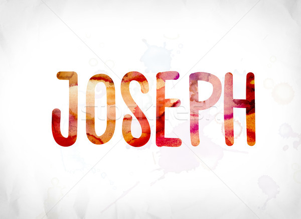 Joseph Concept Painted Watercolor Word Art Stock photo © enterlinedesign