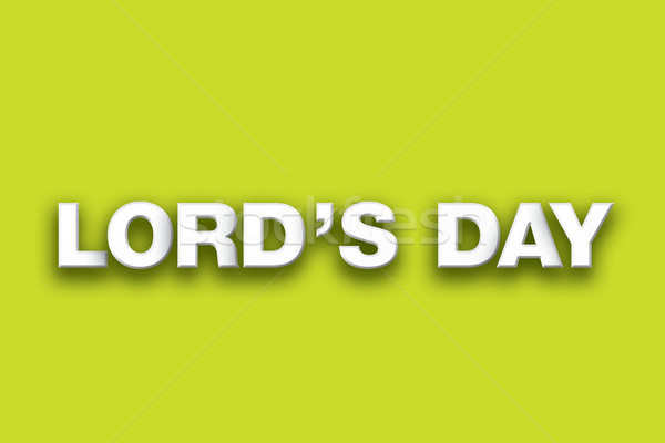Lord's Day Theme Word Art on Colorful Background Stock photo © enterlinedesign