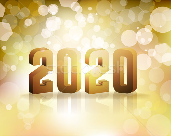 2020 New Year's Eve Concept Illustration Stock photo © enterlinedesign