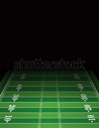 American Football Field Background Template Illustration Stock photo © enterlinedesign