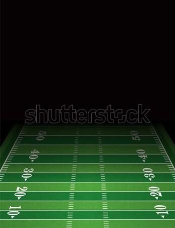 Amerykański boisko do piłki nożnej szablon ilustracja pokój skopiować Zdjęcia stock © enterlinedesign