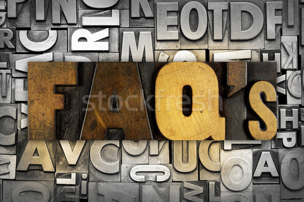 FAQ's Frequently Asked Questions Stock photo © enterlinedesign