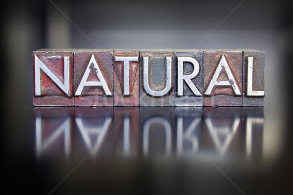 Natural Letterpress Stock photo © enterlinedesign