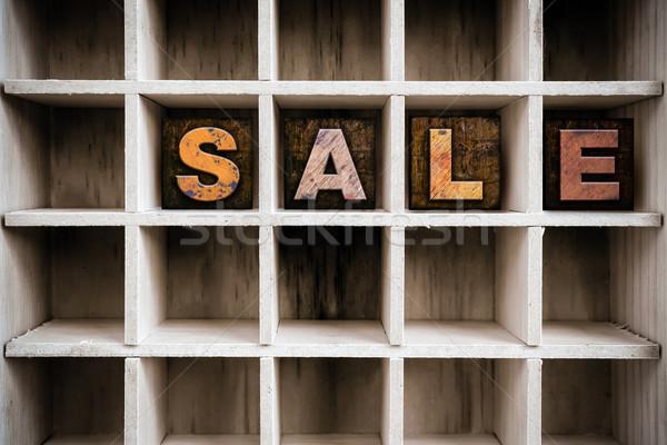 продажи тип выдвижной ящик слово Сток-фото © enterlinedesign