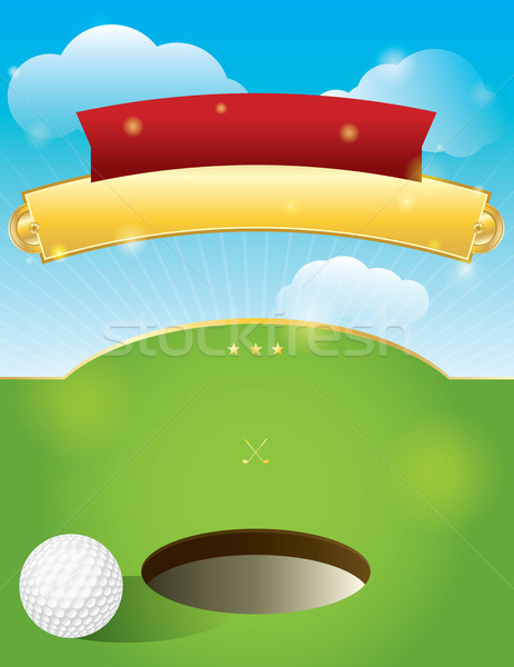 Vector Golf Tournament Invitation Design Stock photo © enterlinedesign