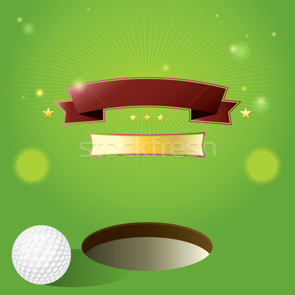 Vector Golf Tournament Invitation Design Background Stock photo © enterlinedesign