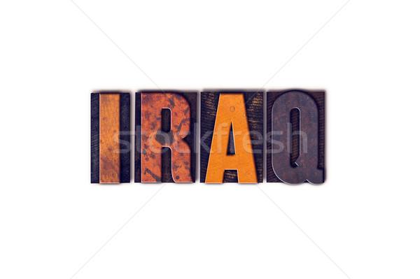 Iraque isolado tipo palavra escrito Foto stock © enterlinedesign