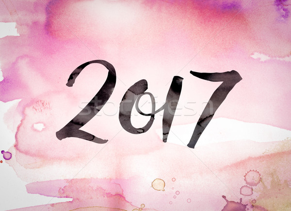 2017 Concept Watercolor Theme Stock photo © enterlinedesign