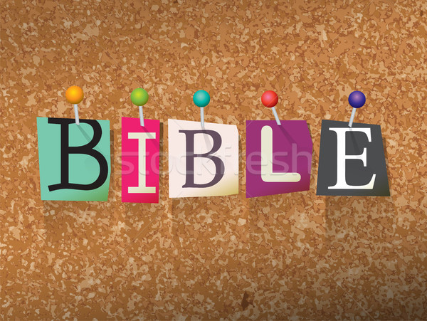 Bible Concept Pinned Letters Illustration Stock photo © enterlinedesign