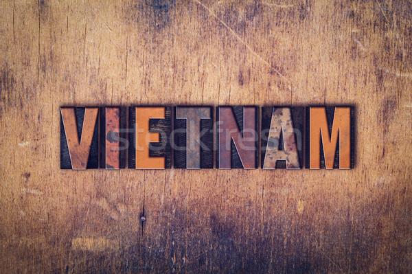 Вьетнам тип слово написанный Сток-фото © enterlinedesign