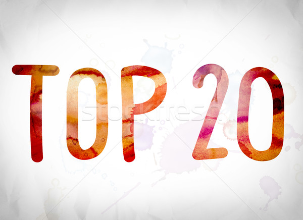 Top 20 Concept Watercolor Word Art Stock photo © enterlinedesign