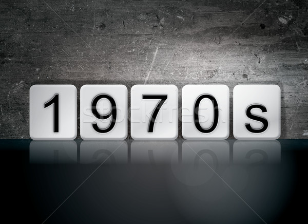 1970s Tiled Letters Concept and Theme Stock photo © enterlinedesign