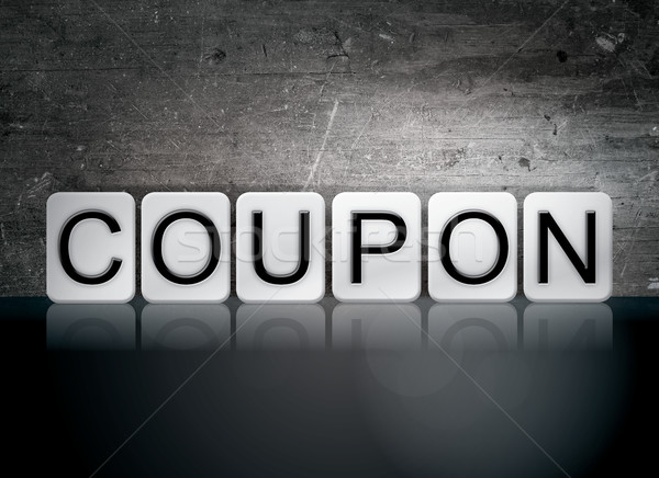 Coupon Tiled Letters Concept and Theme Stock photo © enterlinedesign