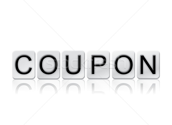 Coupon Isolated Tiled Letters Concept and Theme Stock photo © enterlinedesign