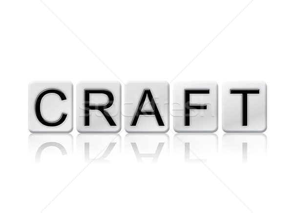 Craft Isolated Tiled Letters Concept and Theme Stock photo © enterlinedesign