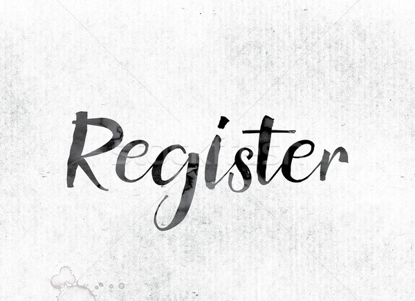 Register Concept Painted in Ink Stock photo © enterlinedesign