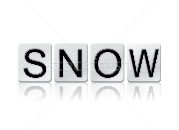 Snow Isolated Tiled Letters Concept and Theme Stock photo © enterlinedesign