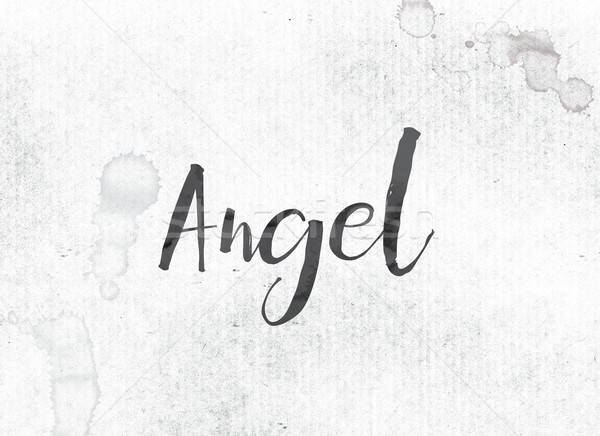 Angel Concept Painted Ink Word and Theme Stock photo © enterlinedesign
