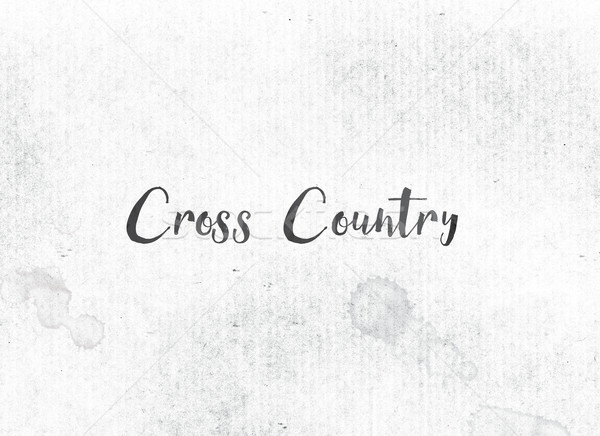 Cross Country Concept Painted Ink Word and Theme Stock photo © enterlinedesign