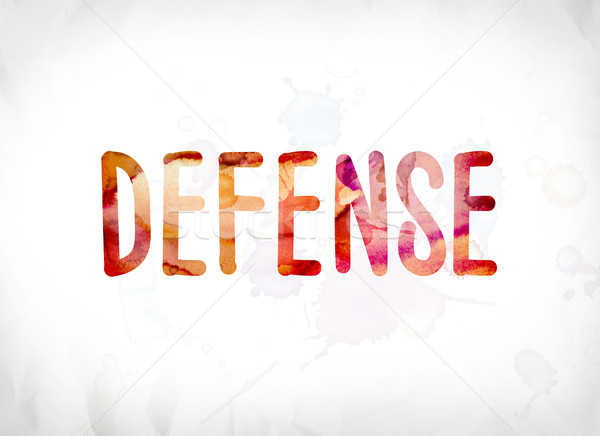 Defense Concept Painted Watercolor Word Art Stock photo © enterlinedesign