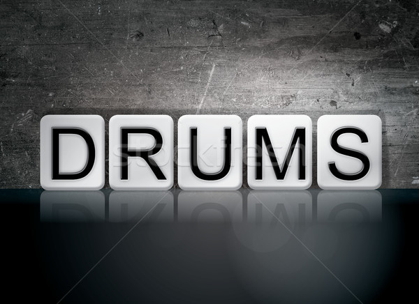 Drums Concept Tiled Word Stock photo © enterlinedesign