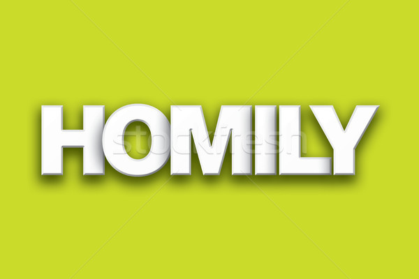 Homily Theme Word Art on Colorful Background Stock photo © enterlinedesign