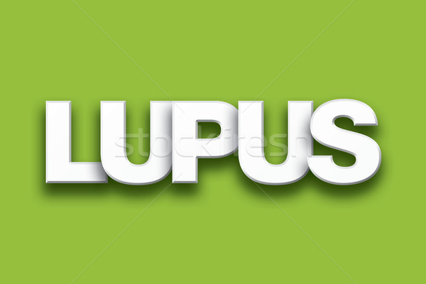 Lupus Theme Word Art on Colorful Background Stock photo © enterlinedesign